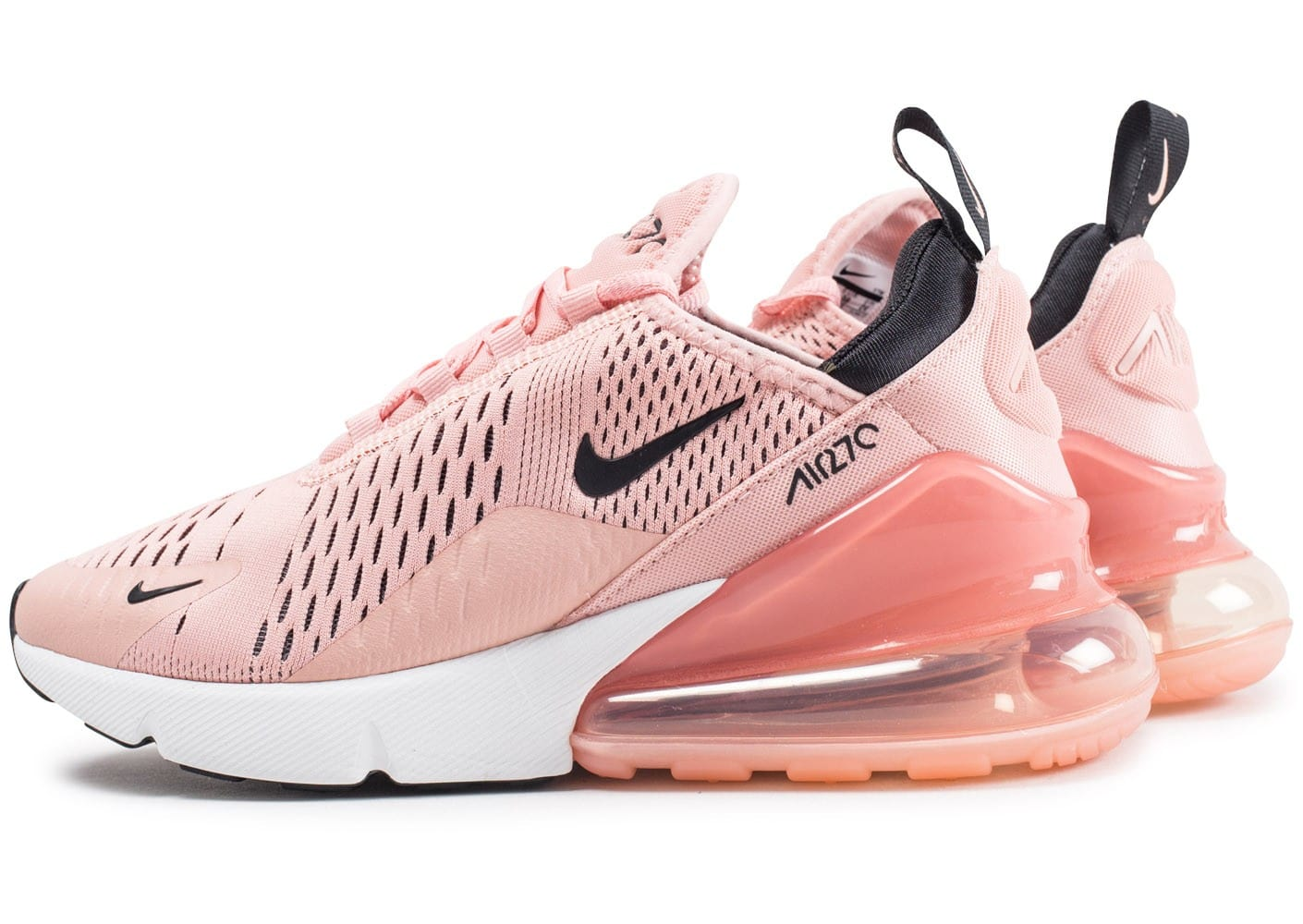 nike air max 270 corail poussi re d 39 toile chaussures femme chausport. Black Bedroom Furniture Sets. Home Design Ideas