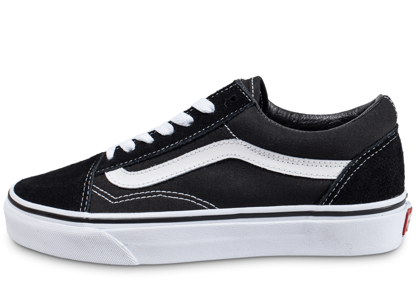 vans old skool low noire et blanche chaussures femme chausport. Black Bedroom Furniture Sets. Home Design Ideas