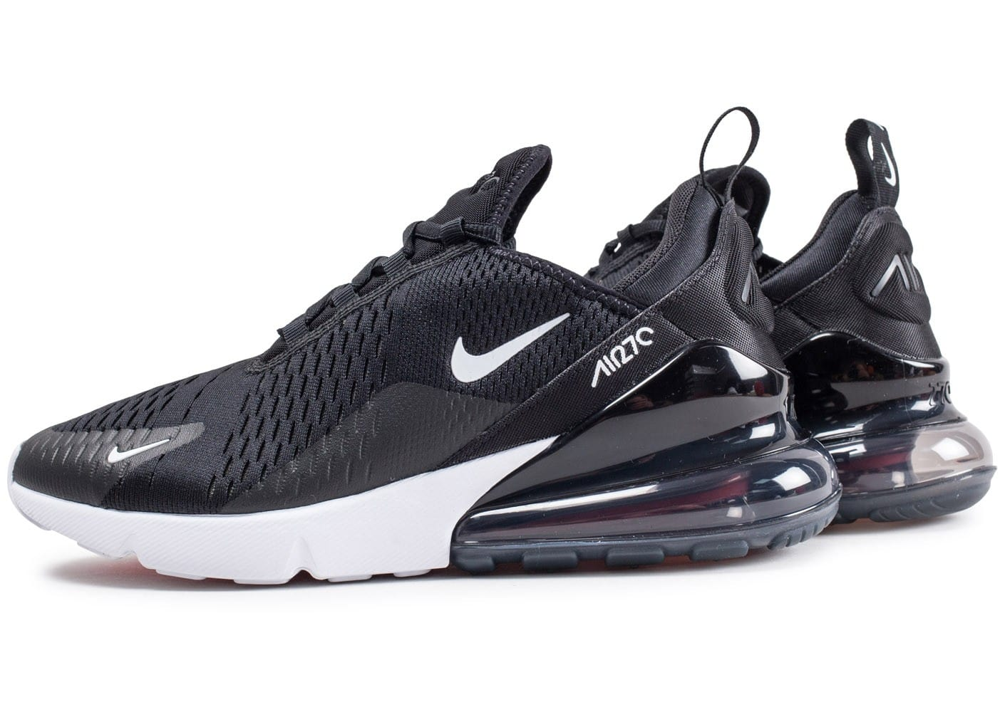 nike air max 270 noire et blanche chaussures homme chausport. Black Bedroom Furniture Sets. Home Design Ideas