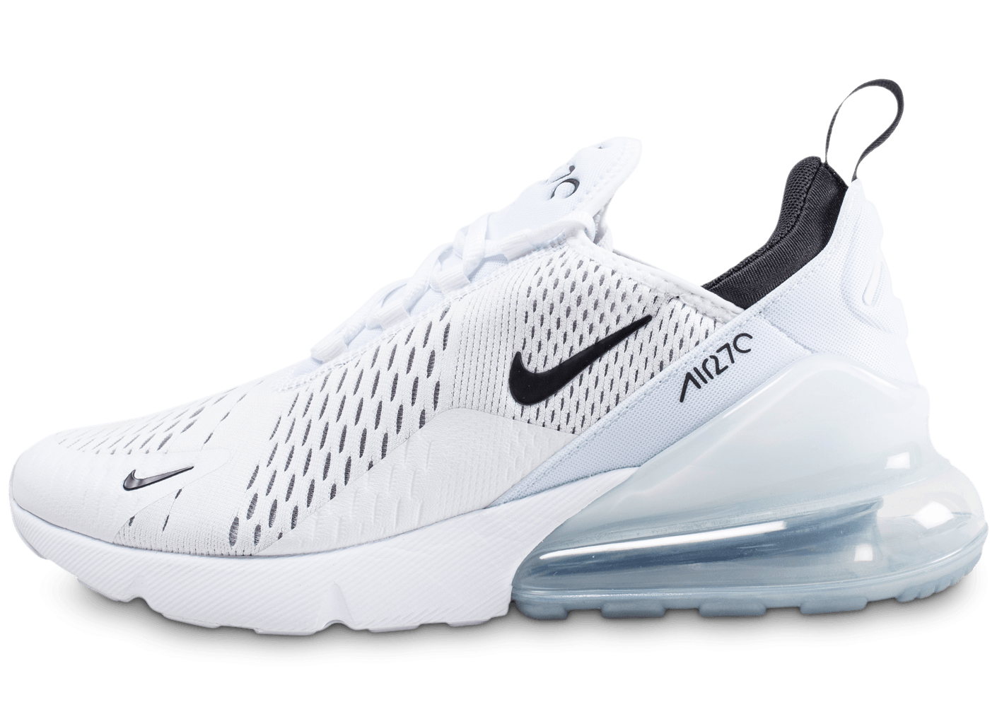 nike air max 270 blanche et noire chaussures baskets homme chausport. Black Bedroom Furniture Sets. Home Design Ideas