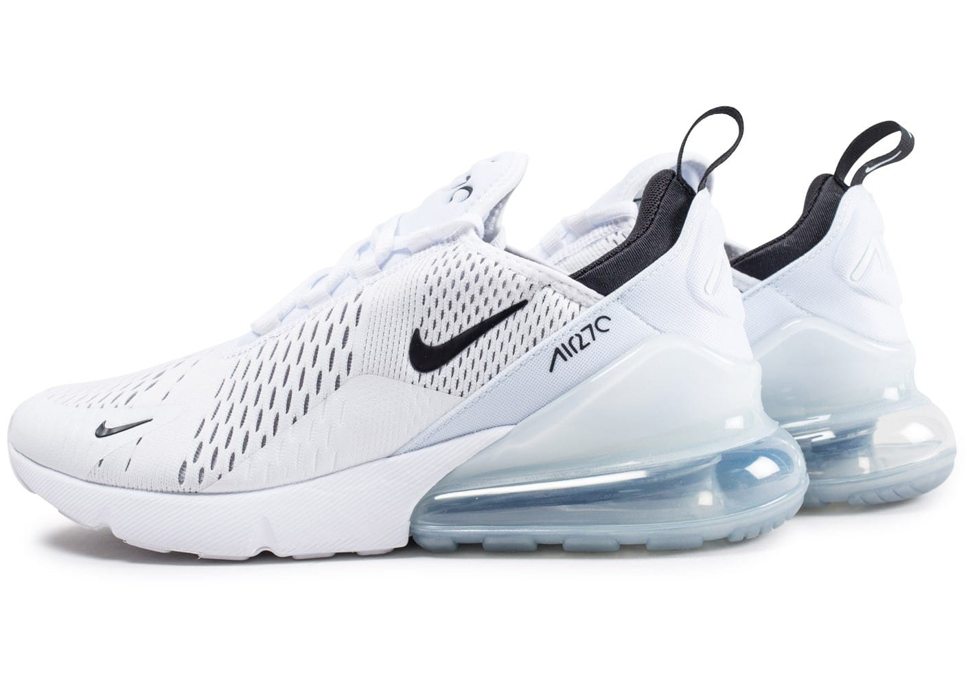 nike air max 270 blanche et noire chaussures homme chausport. Black Bedroom Furniture Sets. Home Design Ideas