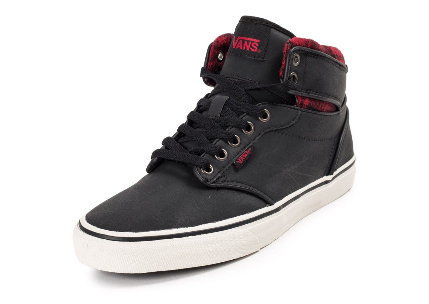 soldes vans atwood hi leather noire chaussures homme chausport. Black Bedroom Furniture Sets. Home Design Ideas