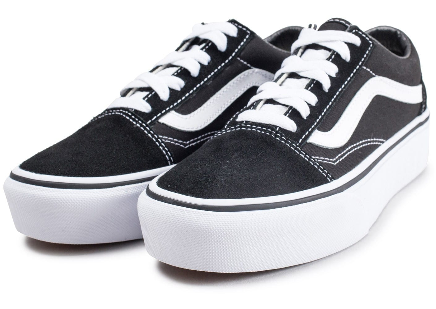 vans old skool platform noire et blanche chaussures femme chausport. Black Bedroom Furniture Sets. Home Design Ideas