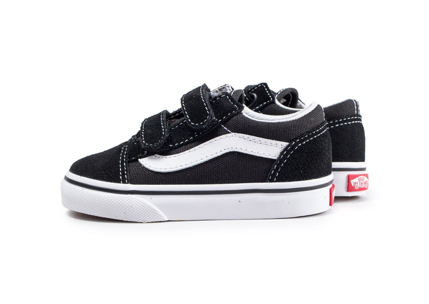 vans old skool v noire et blanche chaussures enfant. Black Bedroom Furniture Sets. Home Design Ideas