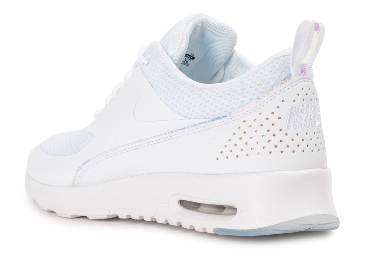 release date b2aef 00aa0 chaussures nike air max thea prm blanche iridescente vue arriere