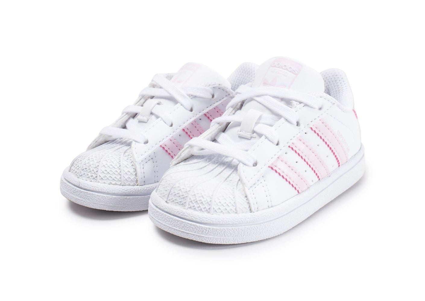 adidas superstar b b blanche et rose poudr chaussures adidas chausport. Black Bedroom Furniture Sets. Home Design Ideas