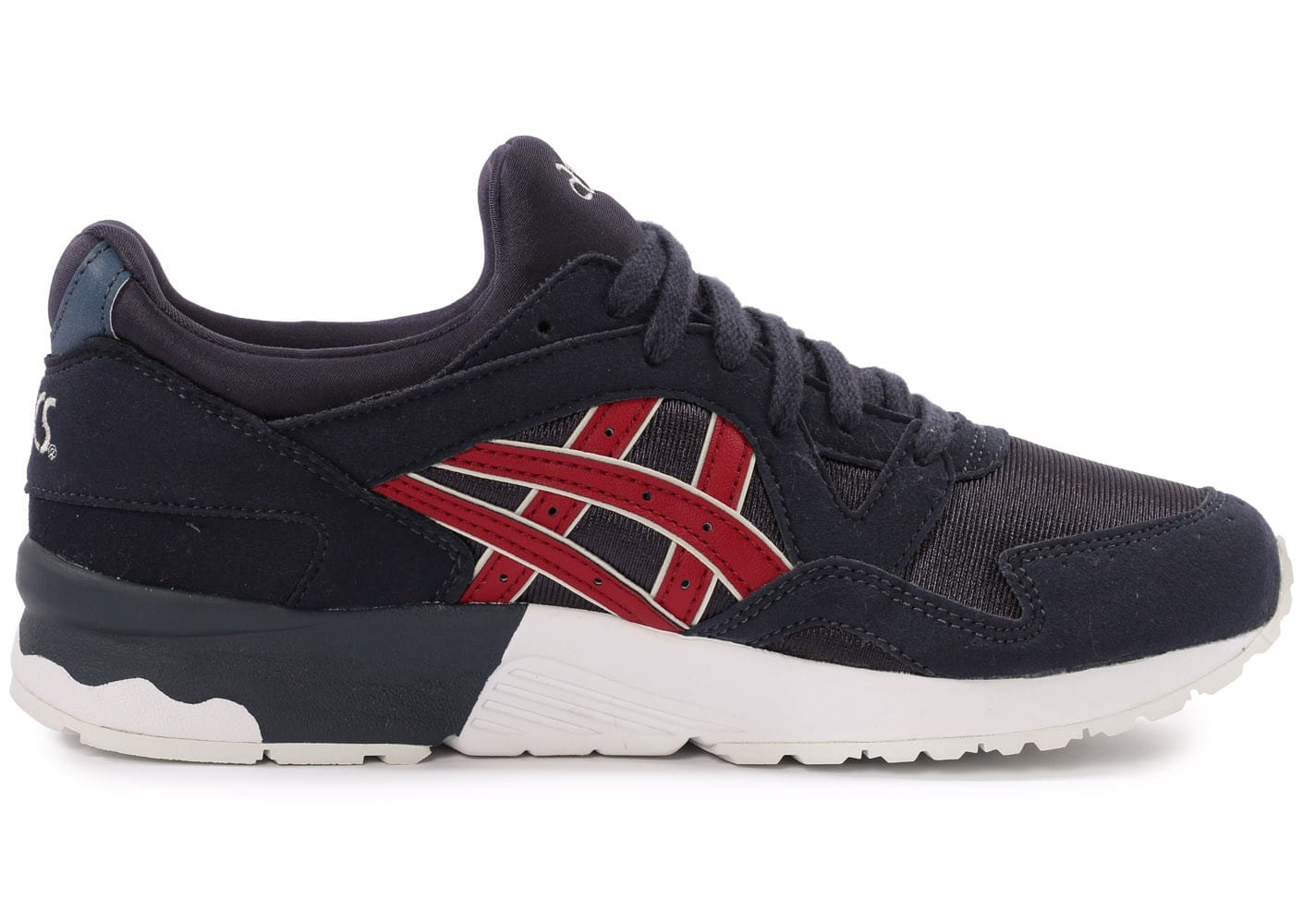 asics gel lyte v junior bleu marine et rouge chaussures toutes les baskets sold es chausport. Black Bedroom Furniture Sets. Home Design Ideas
