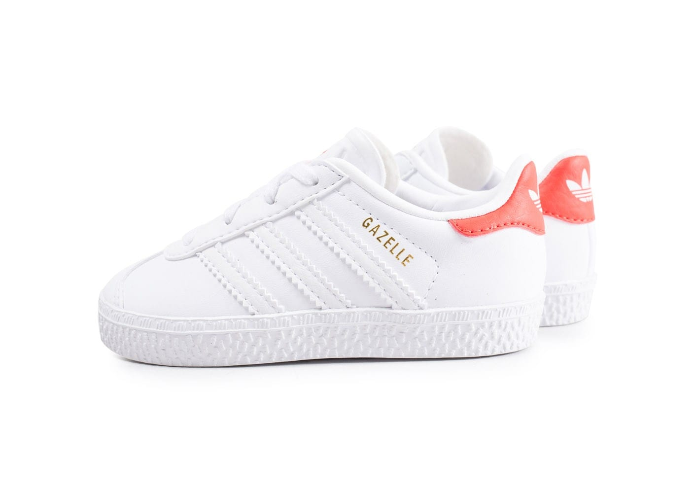 adidas gazelle b b blanche et orange chaussures adidas chausport. Black Bedroom Furniture Sets. Home Design Ideas