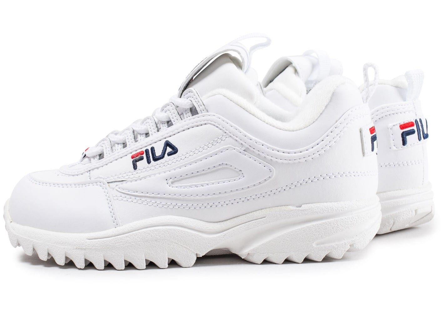 fila disruptor ii enfant blanche chaussures enfant chausport. Black Bedroom Furniture Sets. Home Design Ideas