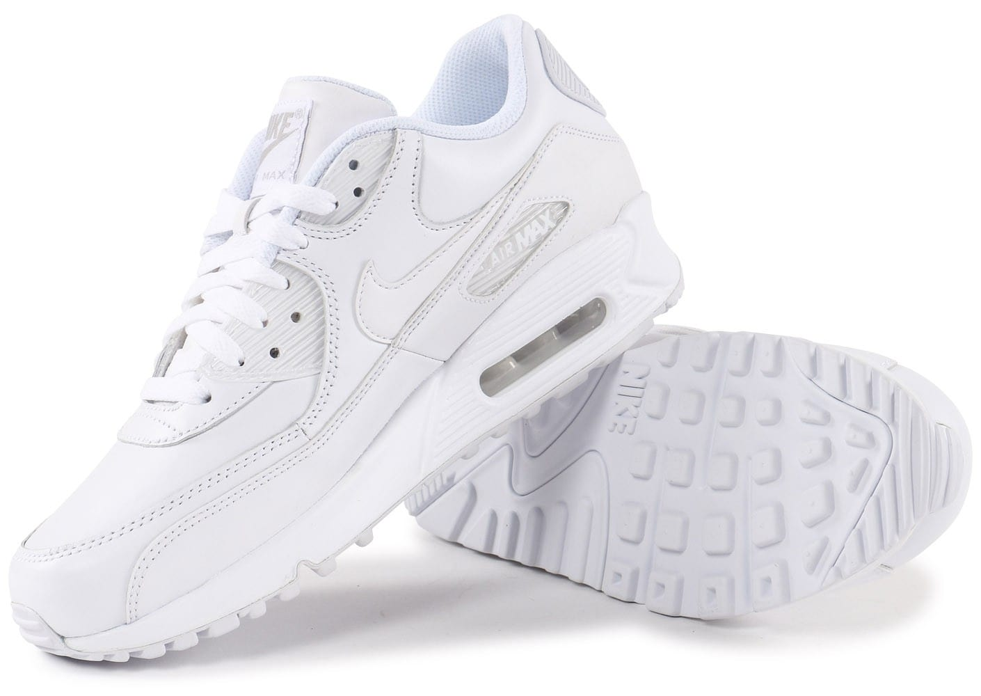 huge selection of 202c2 b87ab chaussures nike air max 90 leather blanche vue dessous semelle