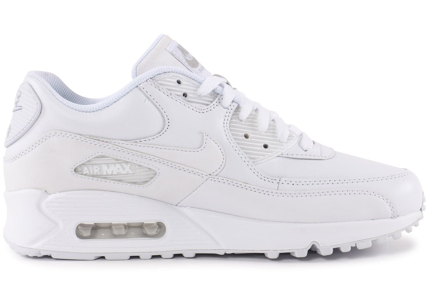 reputable site a30a1 d7b37 chaussures nike air max 90 leather blanche vue interieure