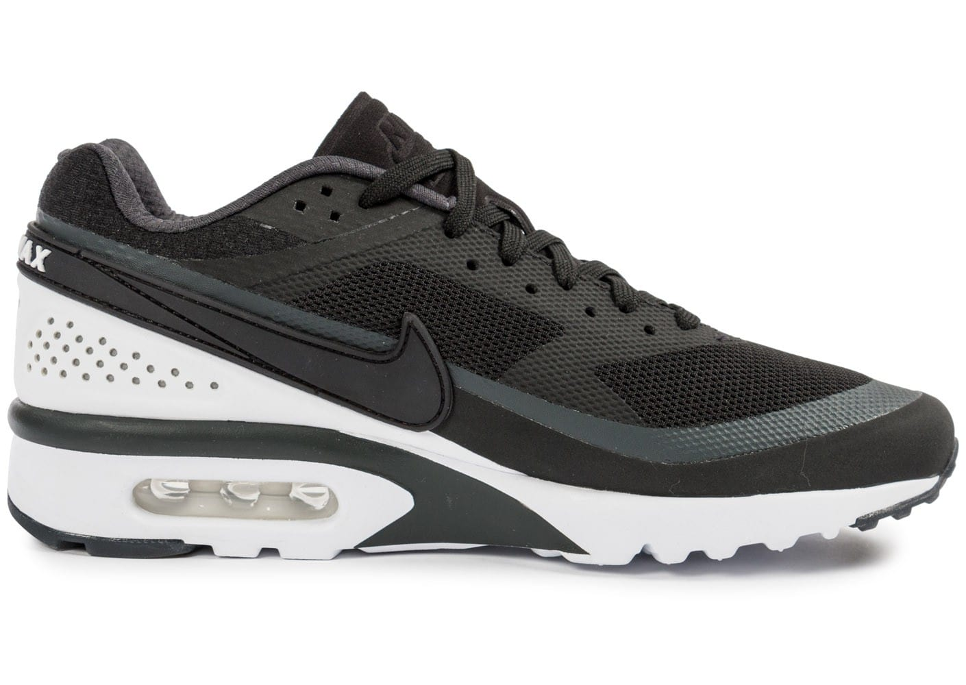buy popular 37684 17561 chaussures nike air max bw ultra noire et blanche vue interieure