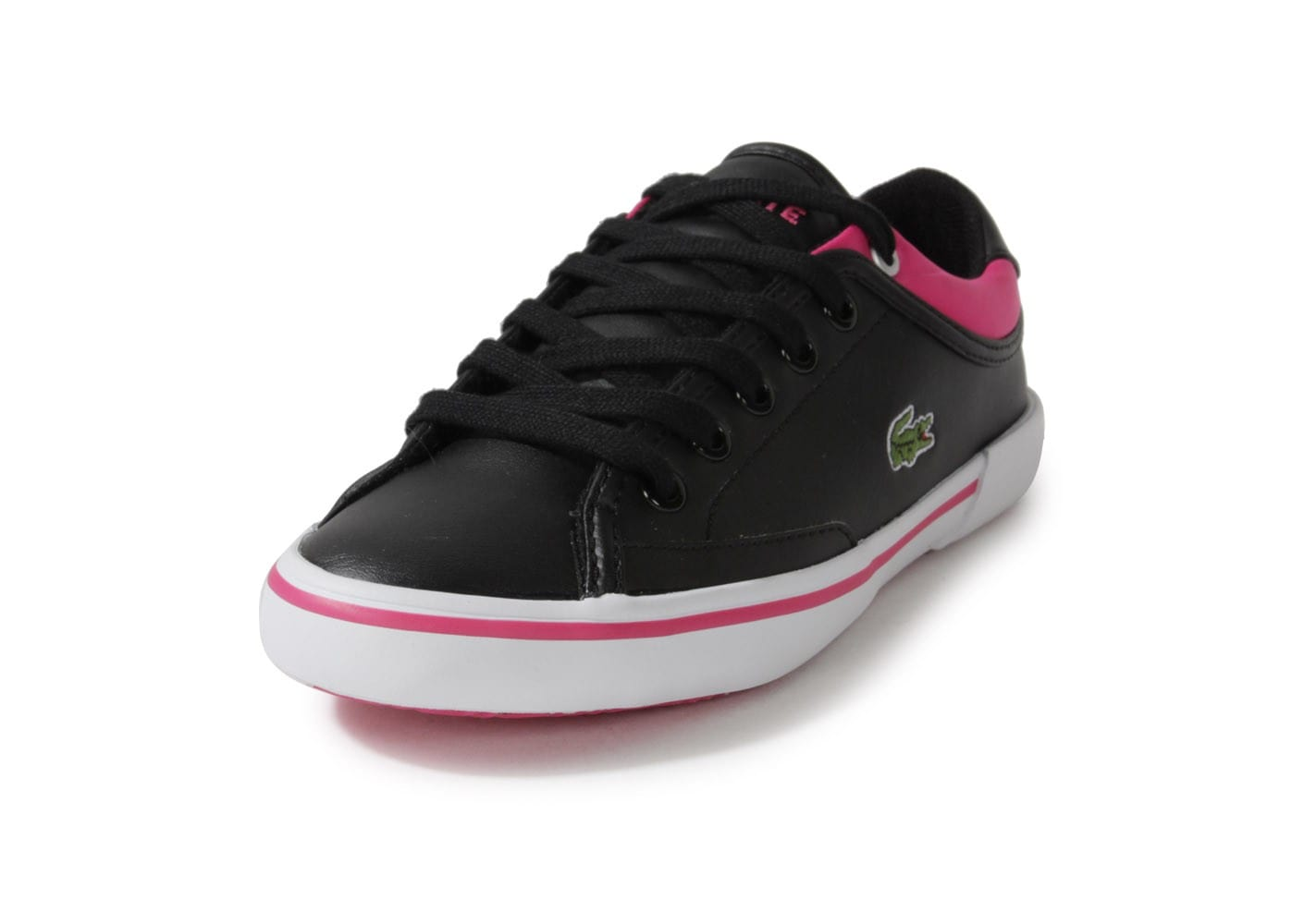 lacoste angha enfant noir rose chaussures chaussures. Black Bedroom Furniture Sets. Home Design Ideas