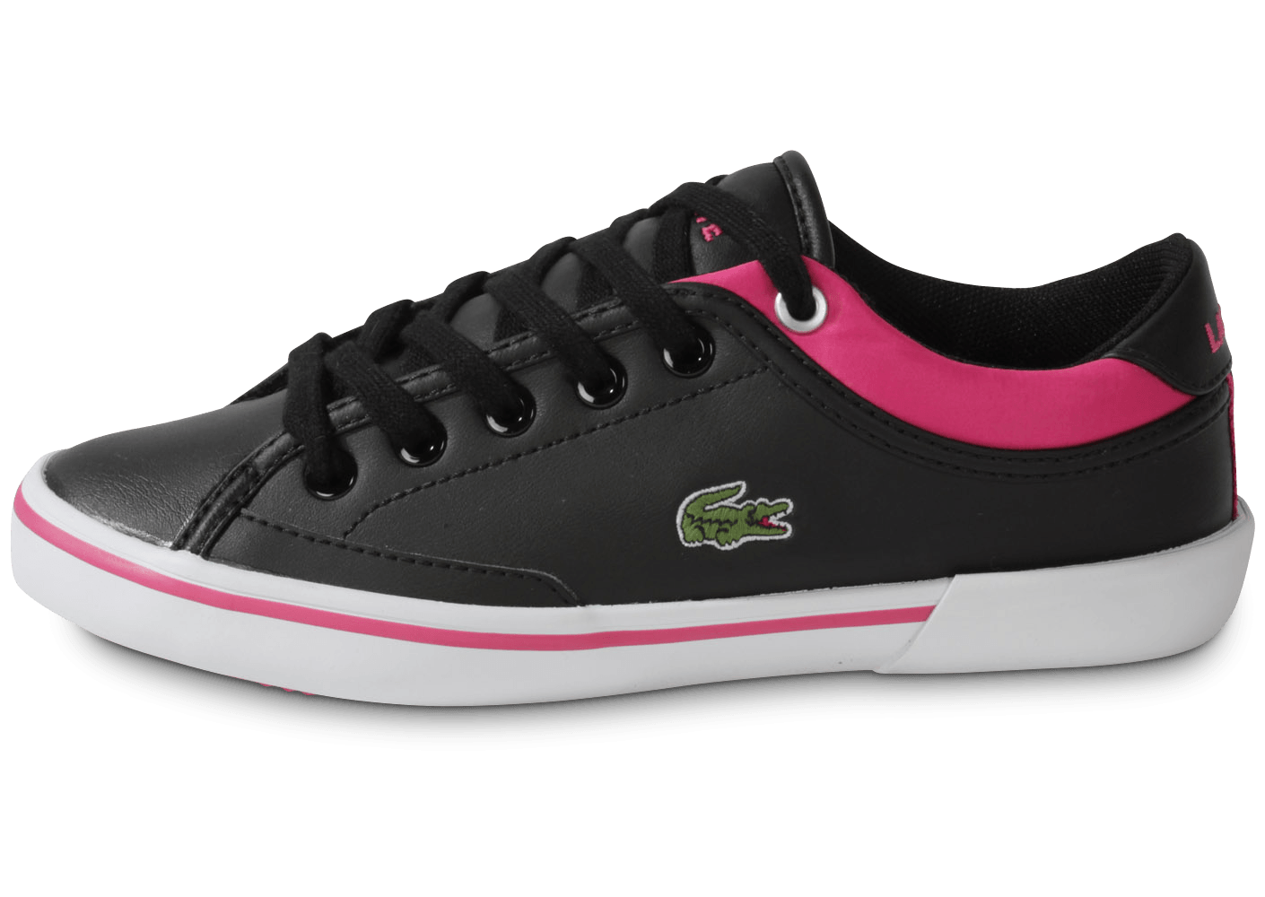 lacoste angha enfant noir rose chaussures chaussures chausport. Black Bedroom Furniture Sets. Home Design Ideas