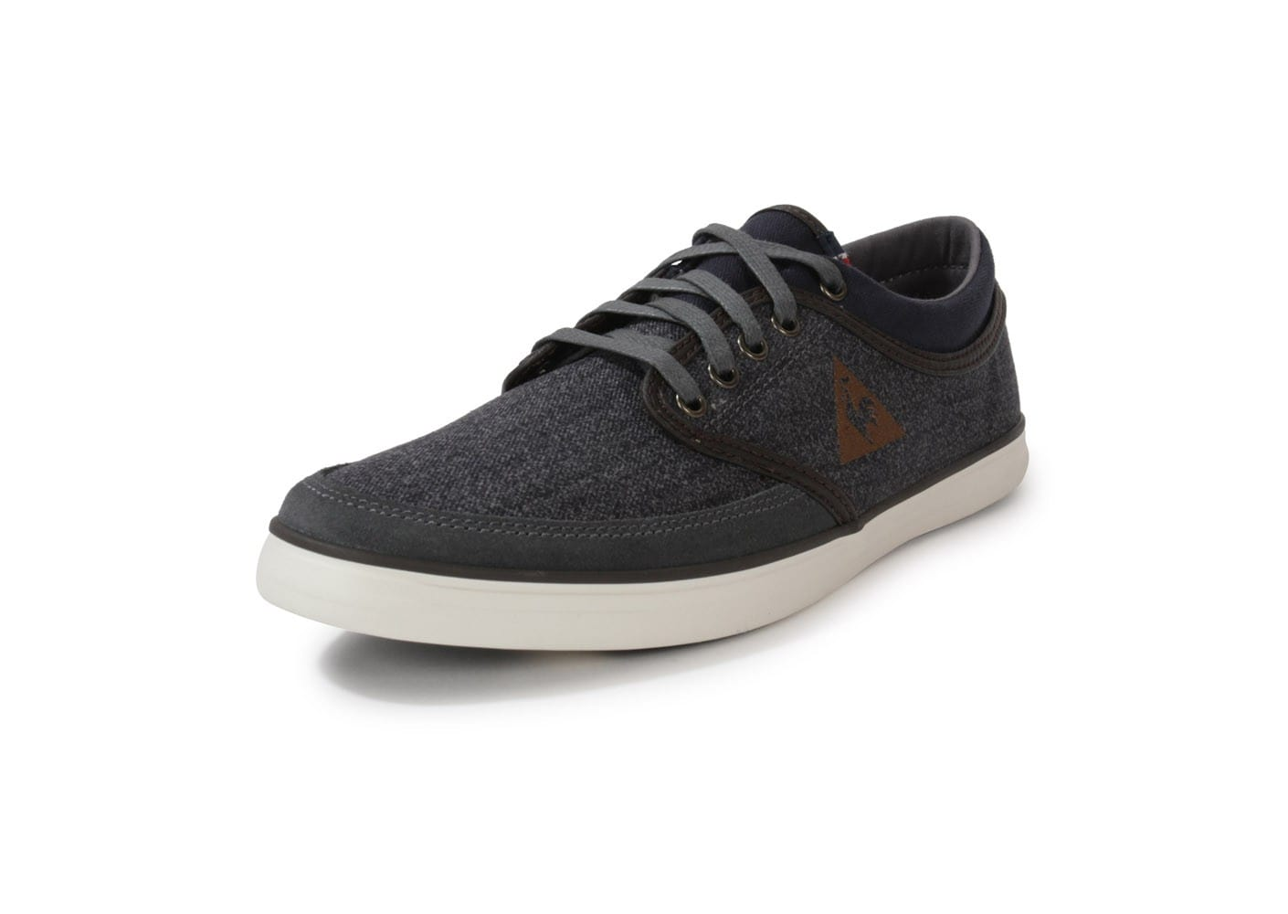 le coq sportif denfert toile charcoal chaussures homme chausport. Black Bedroom Furniture Sets. Home Design Ideas