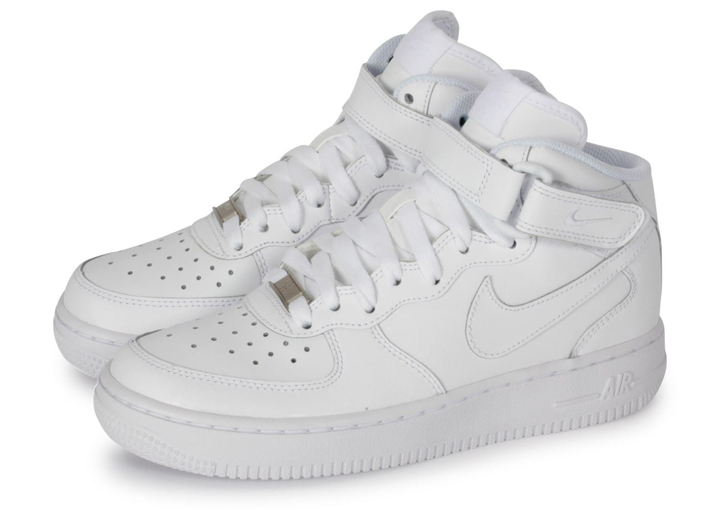 nike air force 1 j mid triple blanc chaussures black friday chausport. Black Bedroom Furniture Sets. Home Design Ideas