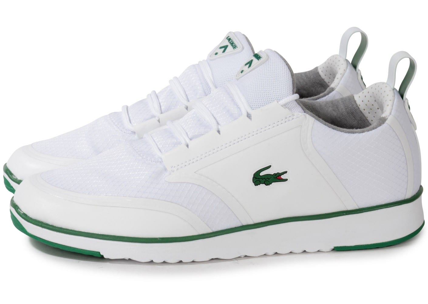 lacoste light lt12 blanche chaussures homme chausport. Black Bedroom Furniture Sets. Home Design Ideas