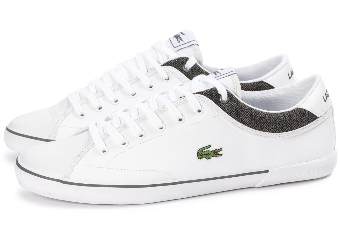 lacoste angha cuir blanche chaussures homme chausport. Black Bedroom Furniture Sets. Home Design Ideas