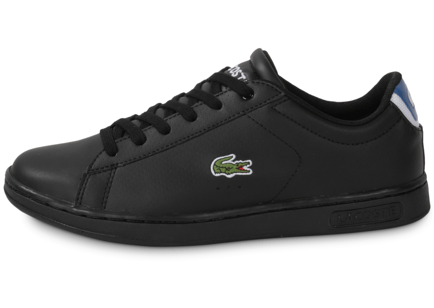 lacoste carnaby per junior noire chaussures chaussures chausport. Black Bedroom Furniture Sets. Home Design Ideas