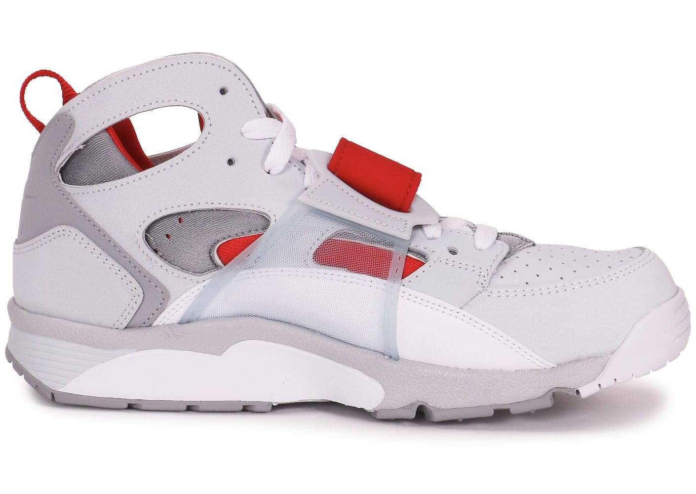 nike air trainer huarache blanche et rouge chaussures homme chausport. Black Bedroom Furniture Sets. Home Design Ideas