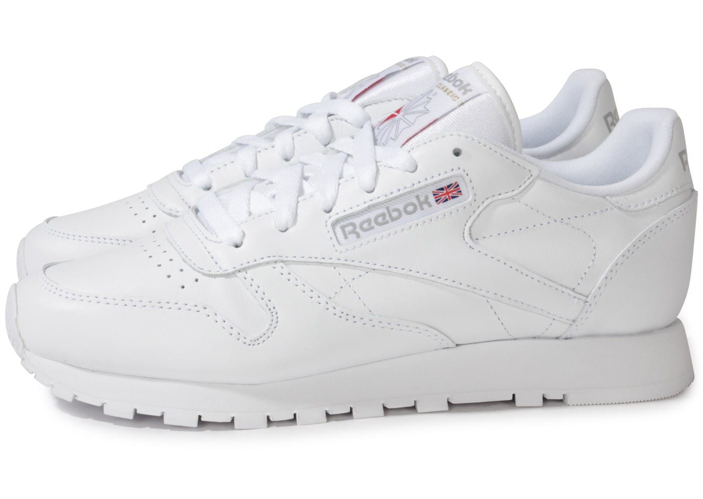 reebok classic leather blanche chaussures chaussures chausport. Black Bedroom Furniture Sets. Home Design Ideas