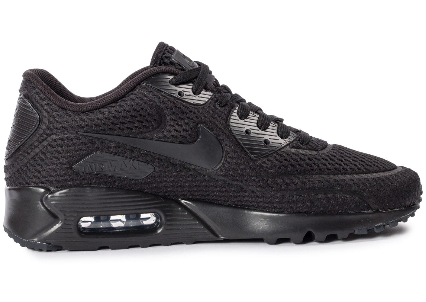 huge discount 1e143 e7500 chaussures nike air max 90 ultra br noire vue interieure