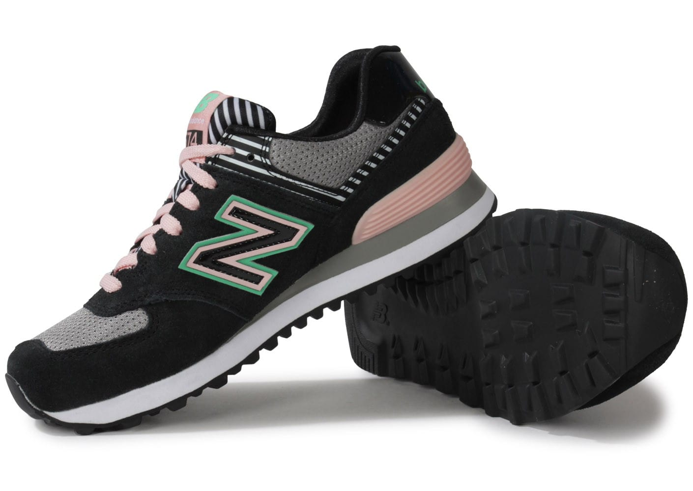 new balance wl574 bfk noir rose