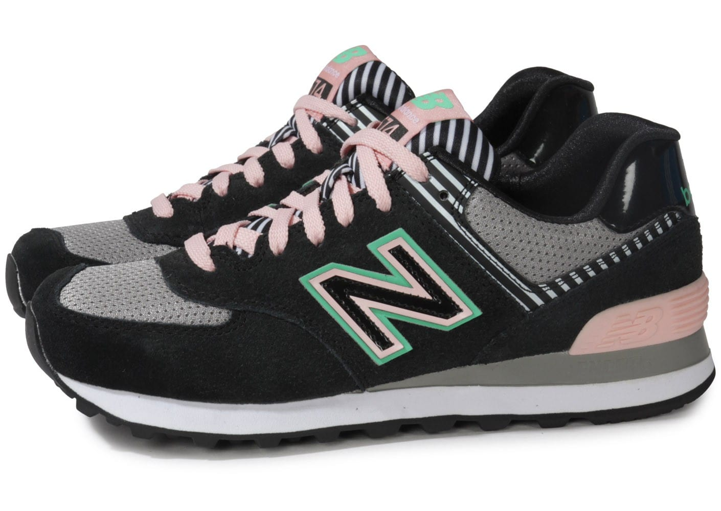 new balance wl574 bfk noir rose chaussures chaussures chausport. Black Bedroom Furniture Sets. Home Design Ideas