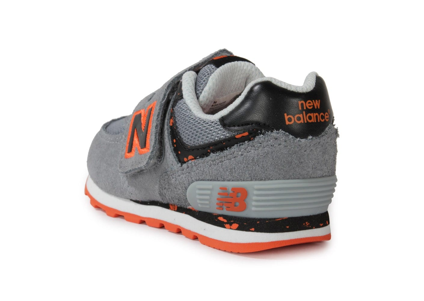 new balance kg574 osi b b grise et orange chaussures chaussures chausport. Black Bedroom Furniture Sets. Home Design Ideas