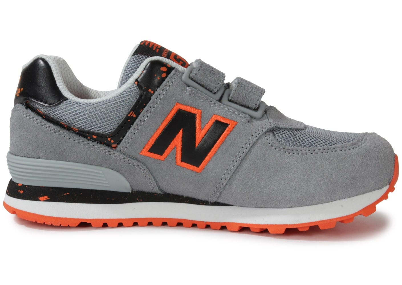 new balance kg574 osy grise orange chaussures chaussures chausport. Black Bedroom Furniture Sets. Home Design Ideas