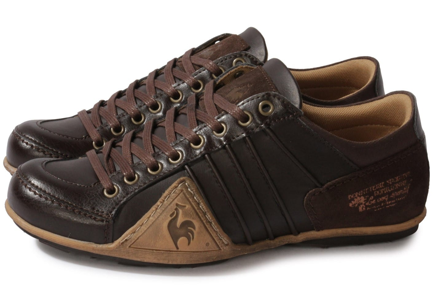 le coq sportif buffalo synt marron chaussures homme chausport. Black Bedroom Furniture Sets. Home Design Ideas