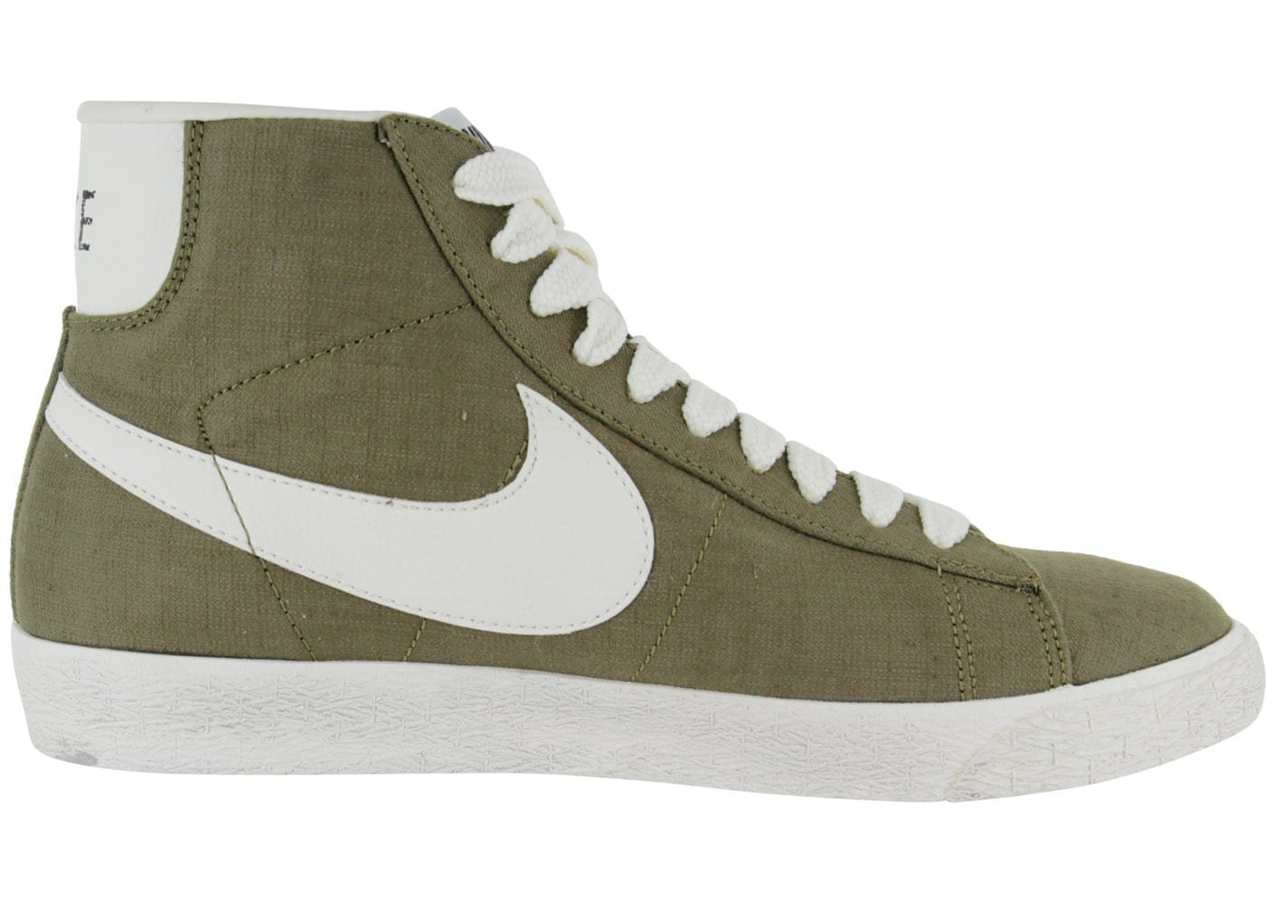 nike blazer mid toile kaki chaussures homme chausport. Black Bedroom Furniture Sets. Home Design Ideas