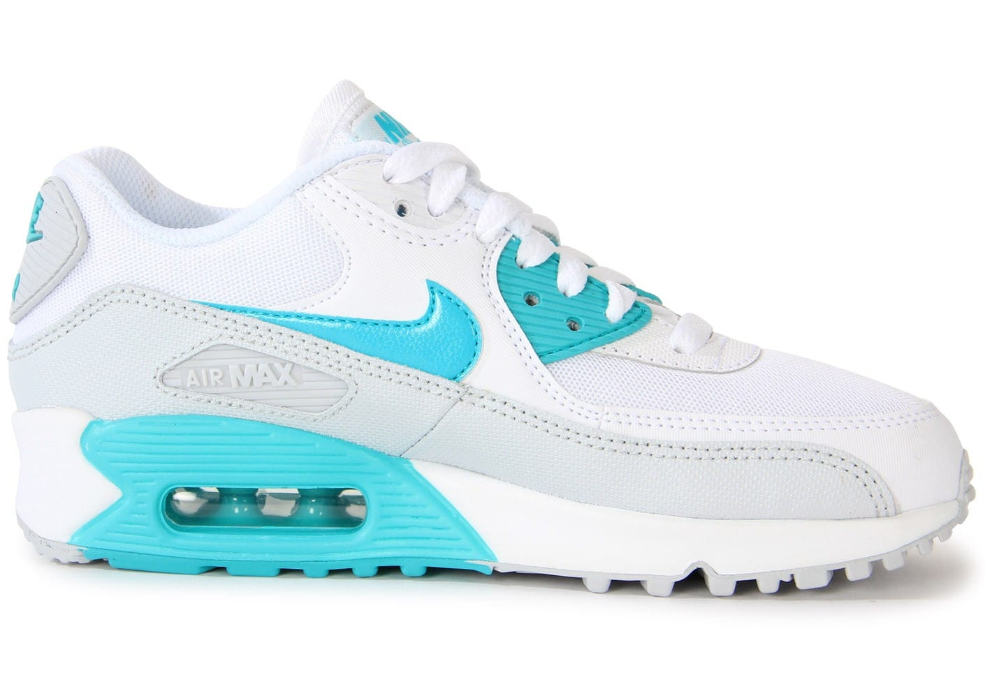 air max 90 essential blanche turquoise
