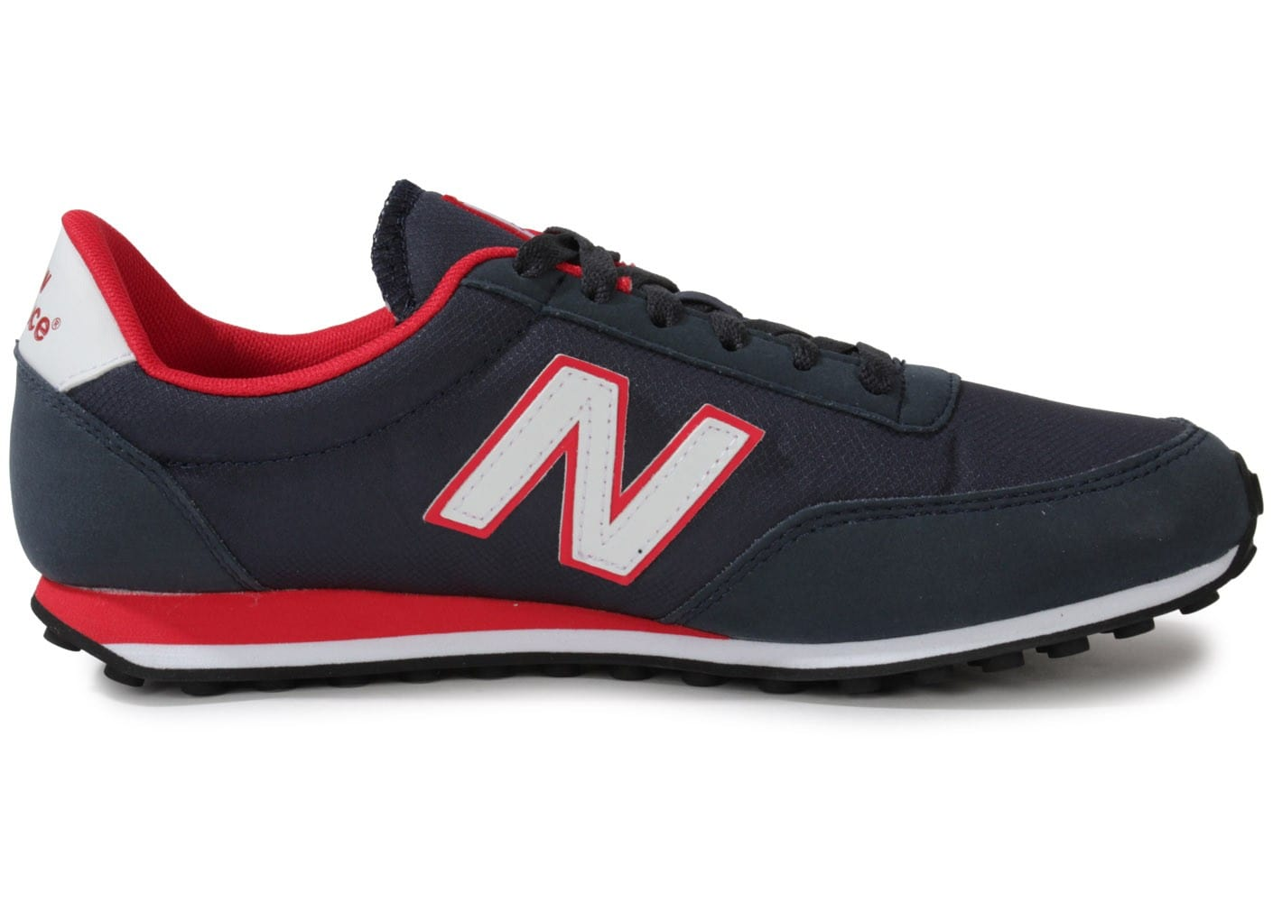 new balance u410 bleu marine rouge chaussures homme chausport. Black Bedroom Furniture Sets. Home Design Ideas