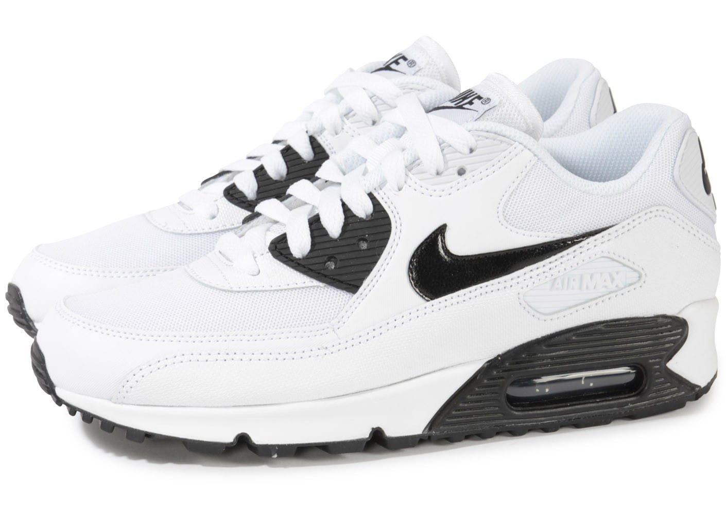 nike air max 90 blanche et noire chaussures chaussures chausport. Black Bedroom Furniture Sets. Home Design Ideas