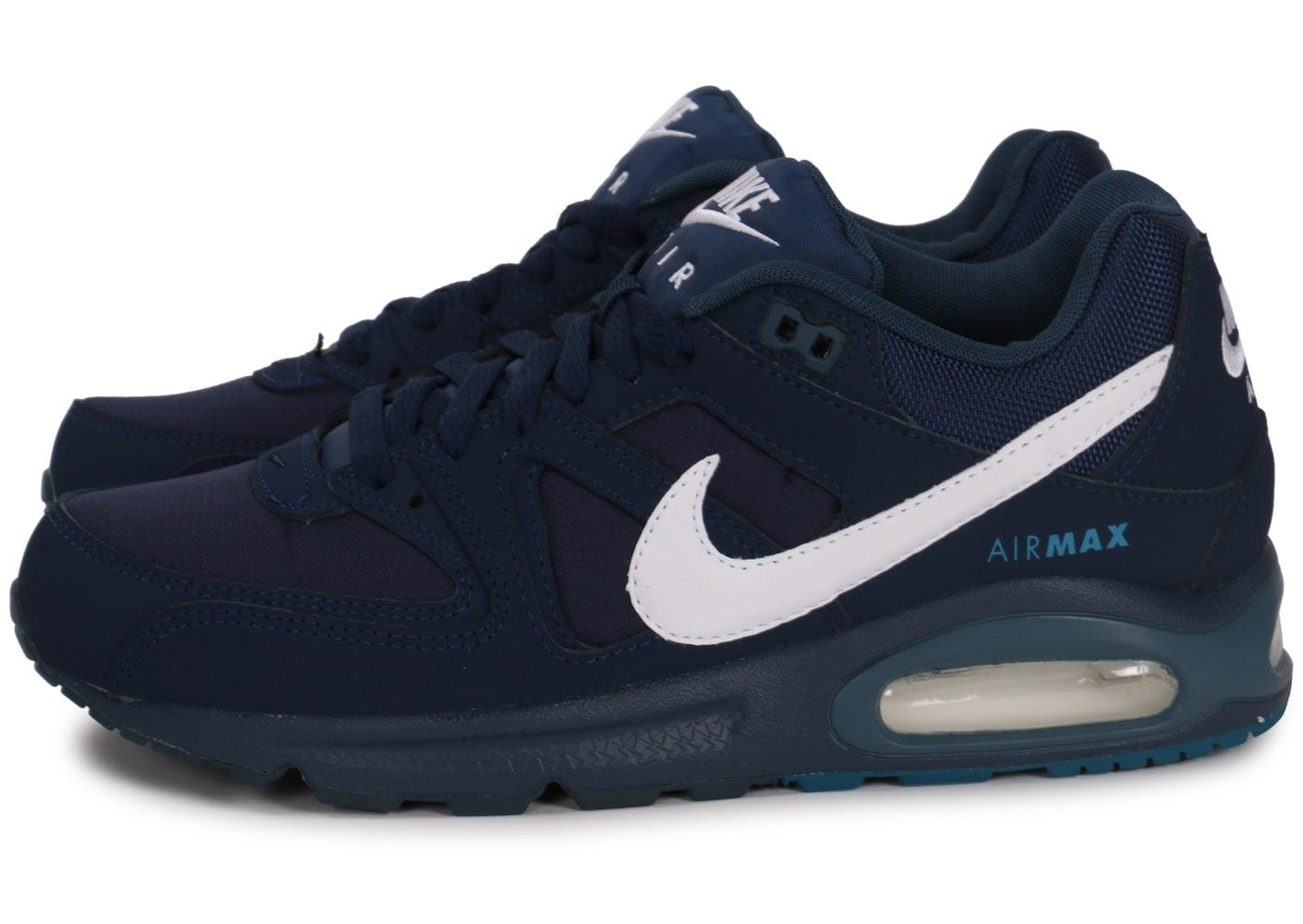 soldes nike air max command bleu marine et blanc chaussures homme chausport. Black Bedroom Furniture Sets. Home Design Ideas
