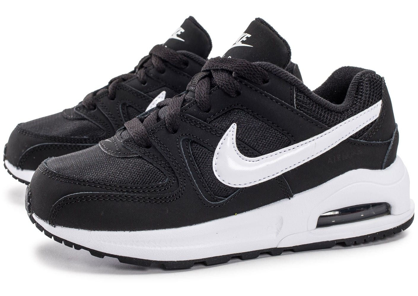 nike air max command enfant noire et blanche chaussures enfant chausport. Black Bedroom Furniture Sets. Home Design Ideas