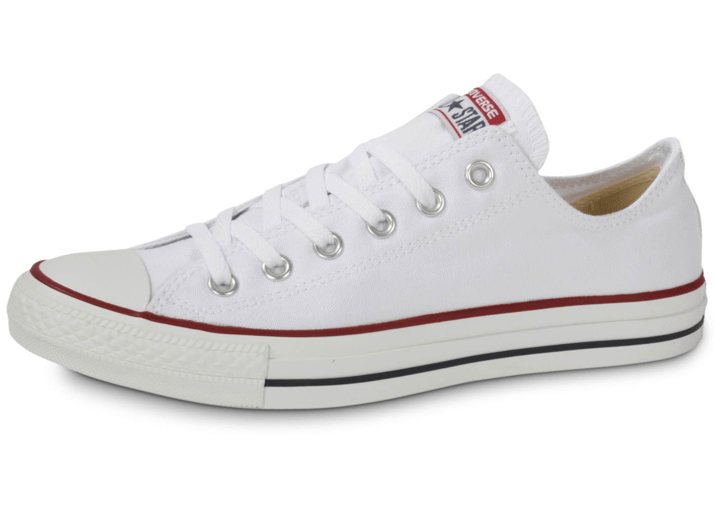 converse chuck taylor all star low blanche chaussures baskets homme chausport. Black Bedroom Furniture Sets. Home Design Ideas