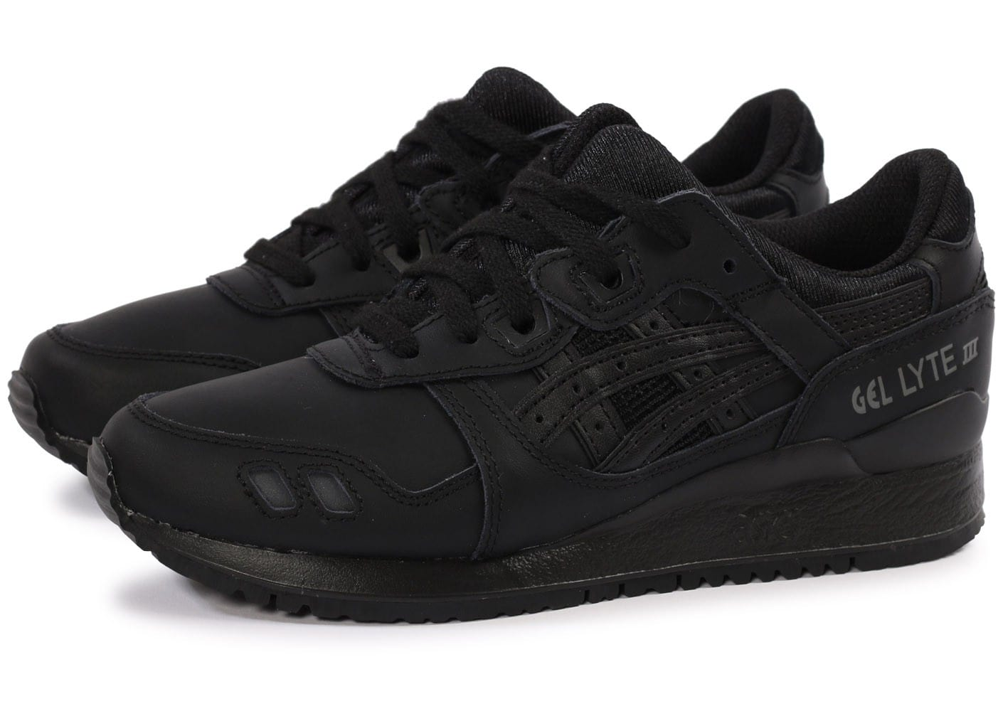 soldes asics gel lyte iii triple noir chaussures toutes les baskets sold es chausport. Black Bedroom Furniture Sets. Home Design Ideas