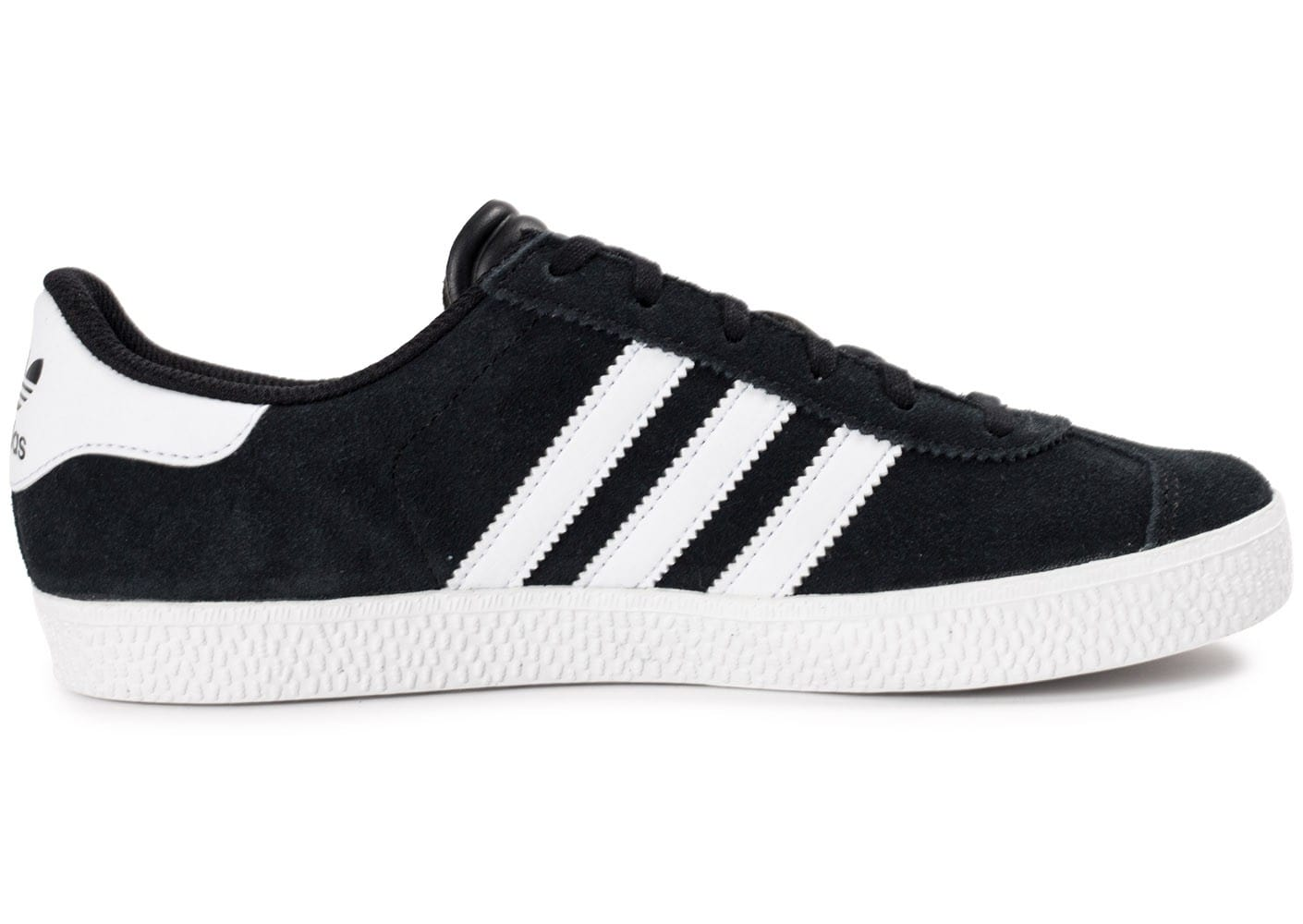 adidas gazelle 2 junior noire et blanche chaussures adidas chausport. Black Bedroom Furniture Sets. Home Design Ideas