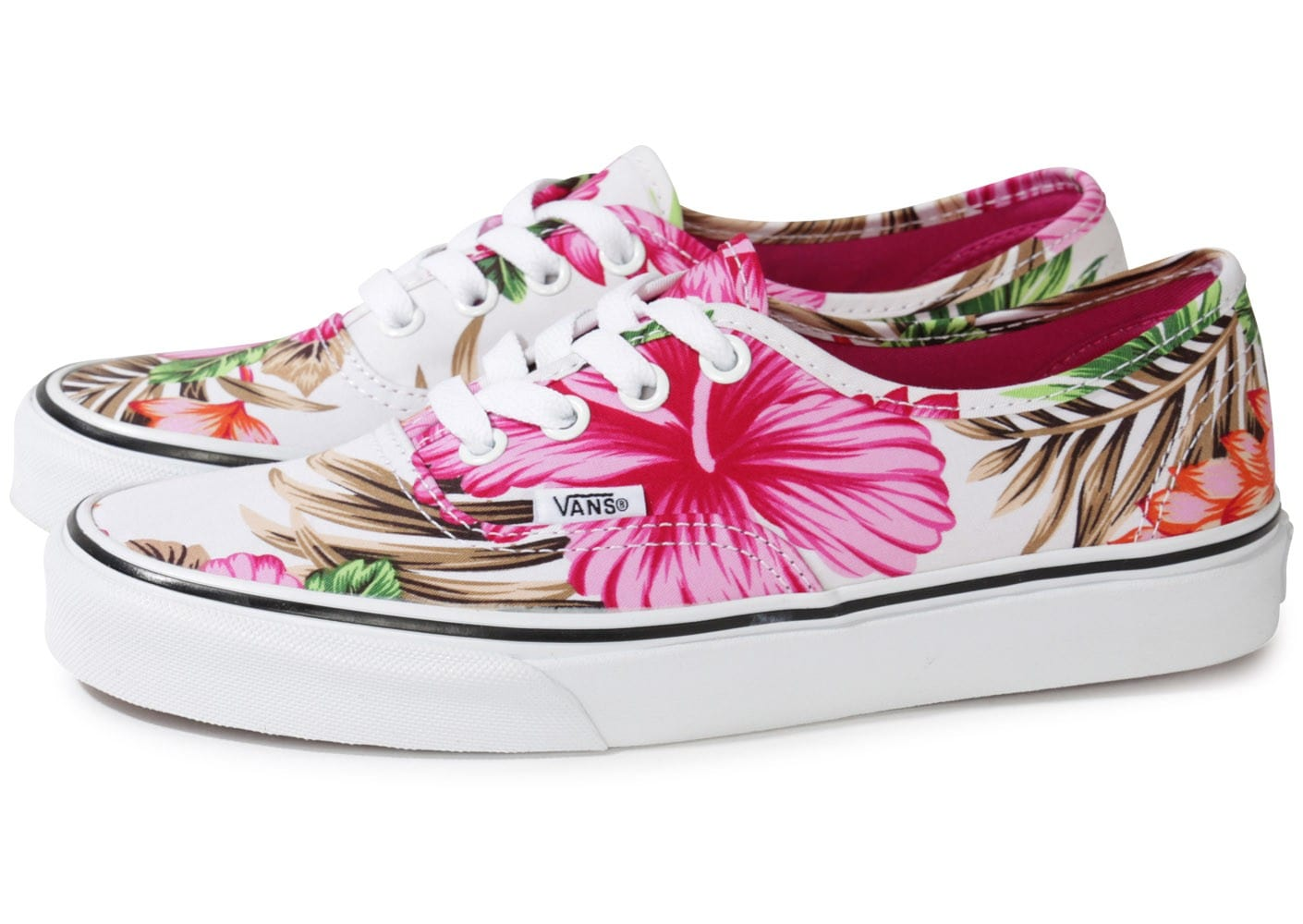 vans authentic flowers blanche chaussures chaussures chausport. Black Bedroom Furniture Sets. Home Design Ideas