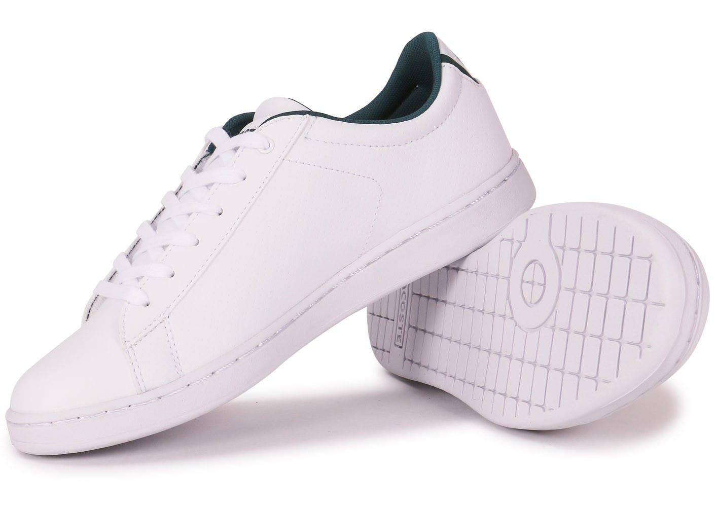 Lacoste carnaby evo junior blanche chaussures chaussures - Lacoste carnaby evo cls baskets en cuir perfore ...