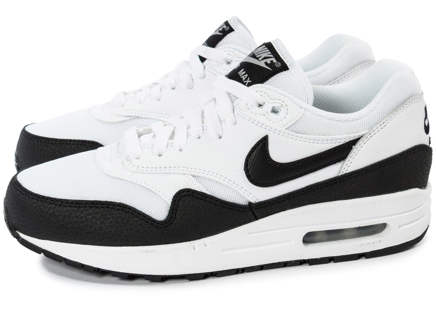 nike air max 1 essential blanc noir chaussures chaussures chausport. Black Bedroom Furniture Sets. Home Design Ideas