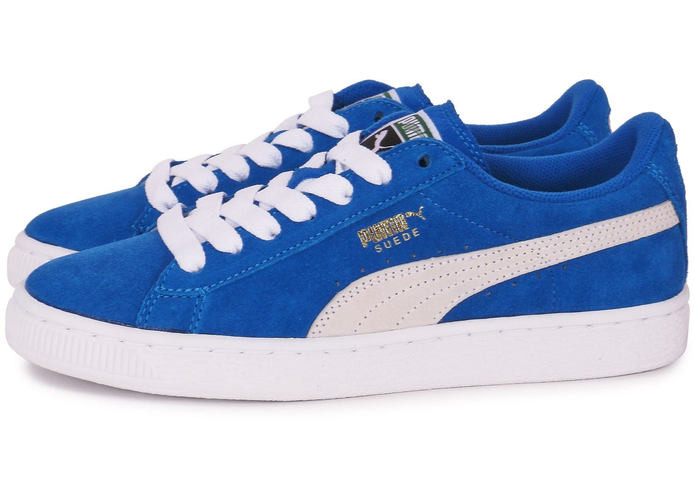 puma suede junior bleue chaussures chaussures chausport. Black Bedroom Furniture Sets. Home Design Ideas
