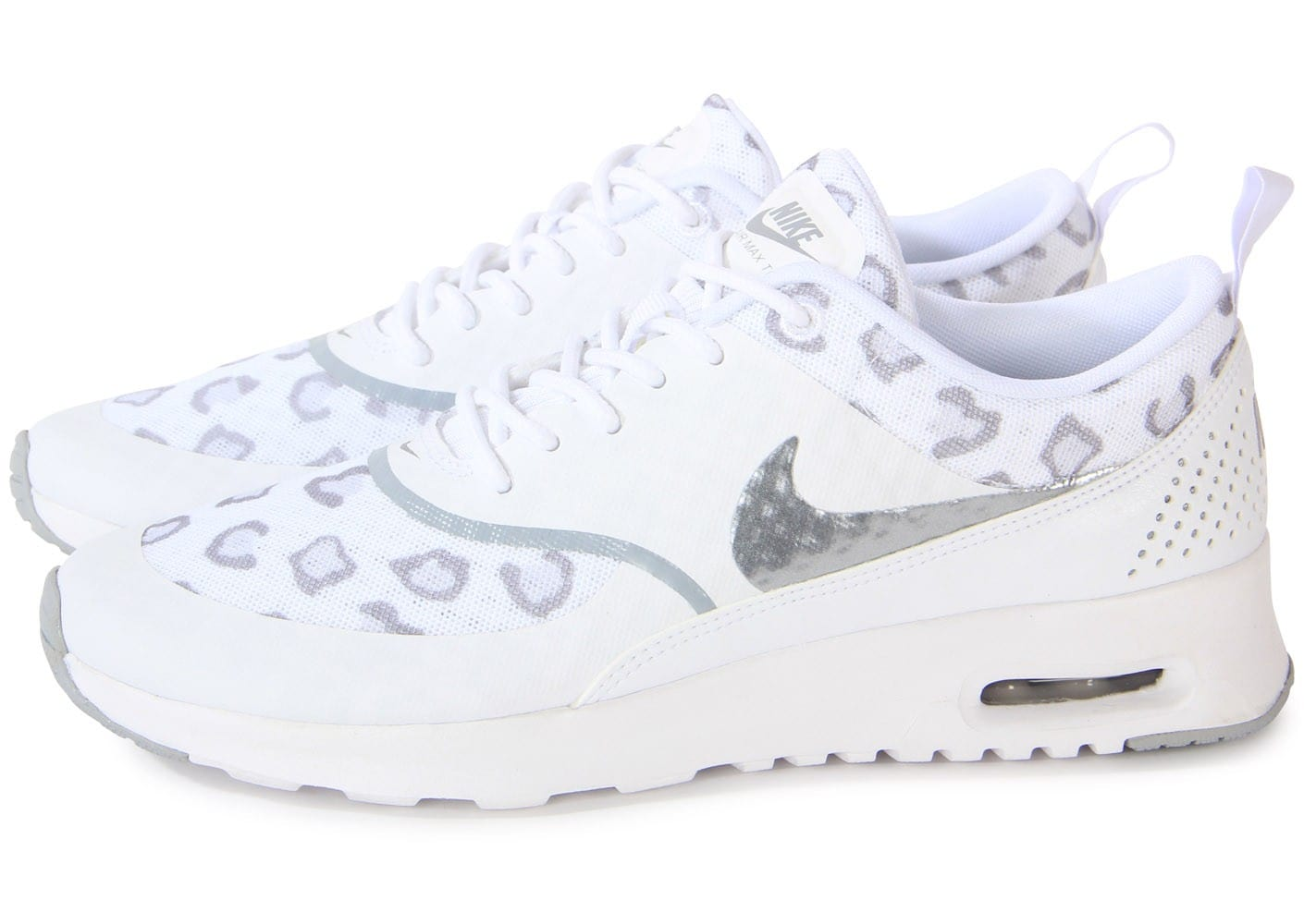 nike air max thea print leopard blanche chaussures chaussures chausport. Black Bedroom Furniture Sets. Home Design Ideas