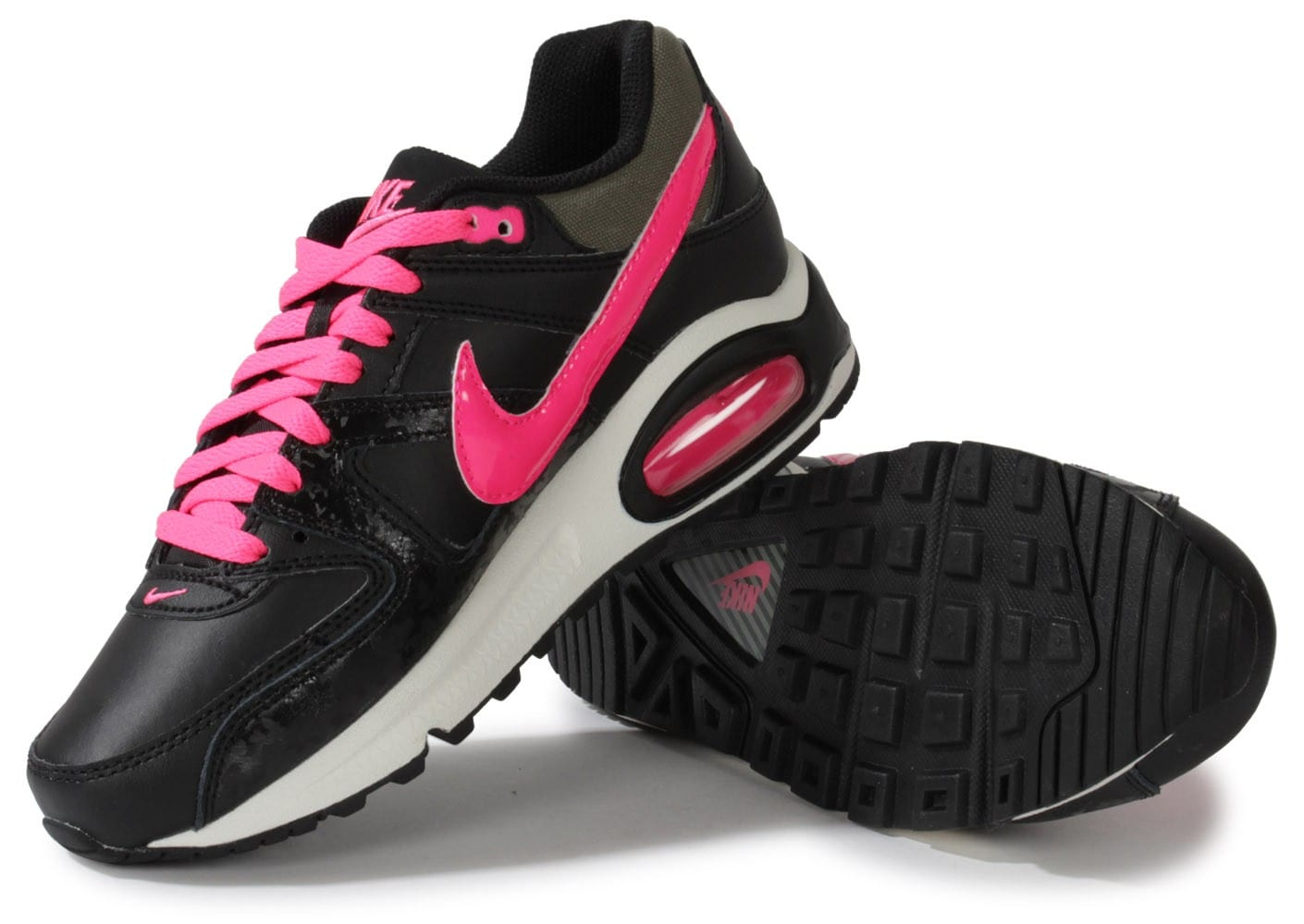 nike air max command junior noire et rose chaussures. Black Bedroom Furniture Sets. Home Design Ideas