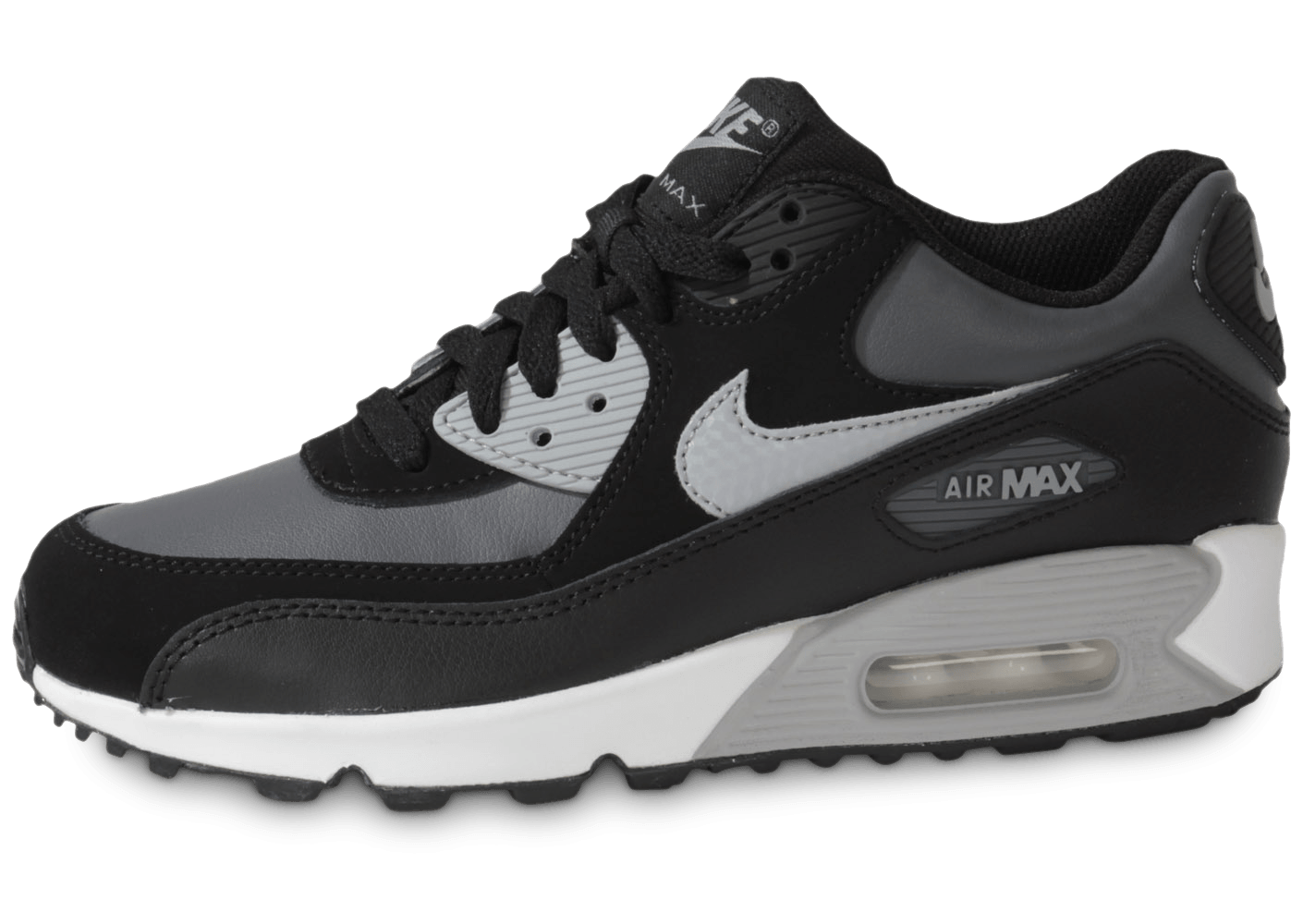nike air max 90 junior dark grey chaussures chaussures chausport. Black Bedroom Furniture Sets. Home Design Ideas