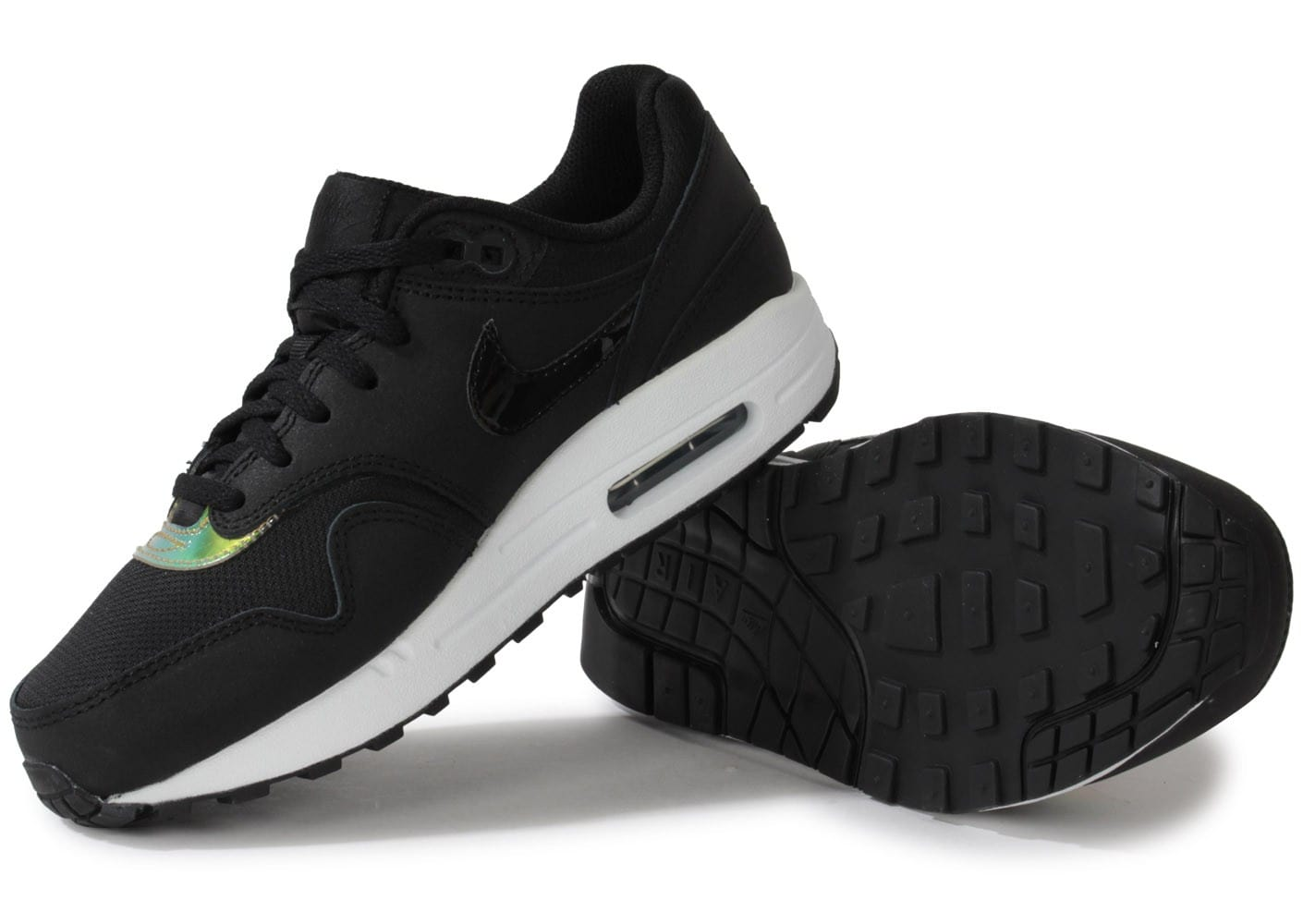 hot sale online 96f74 4d2a6 ... buy 440e2 8fb8e Chaussures Nike Air Max 1 Iridescent Junior vue  intérieure .