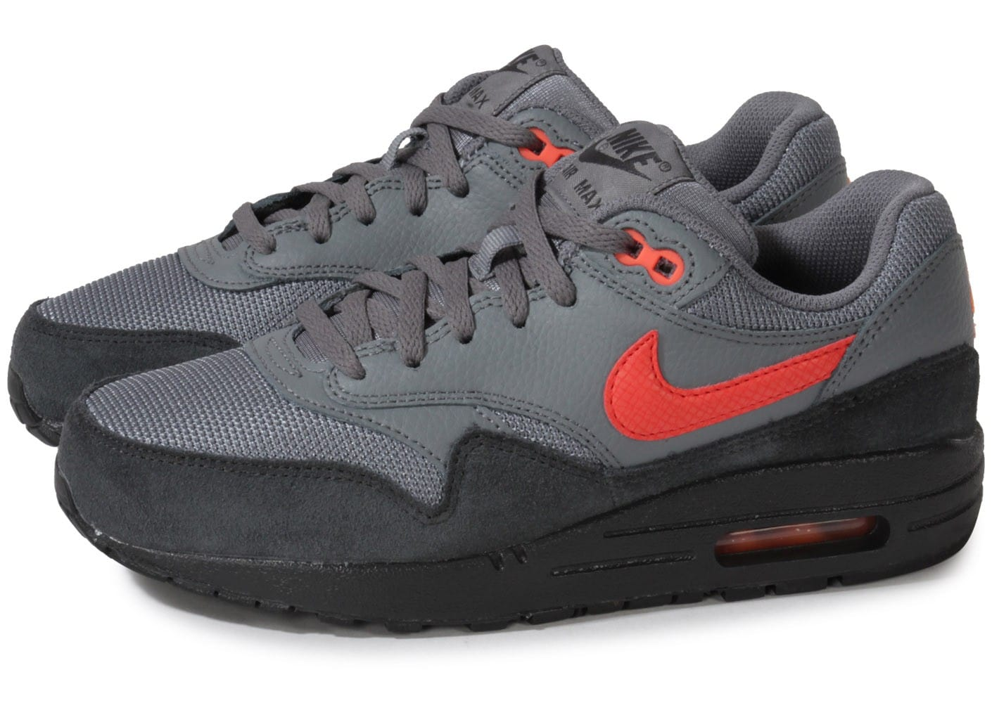 nike air max 1 junior grise chaussures chaussures chausport. Black Bedroom Furniture Sets. Home Design Ideas