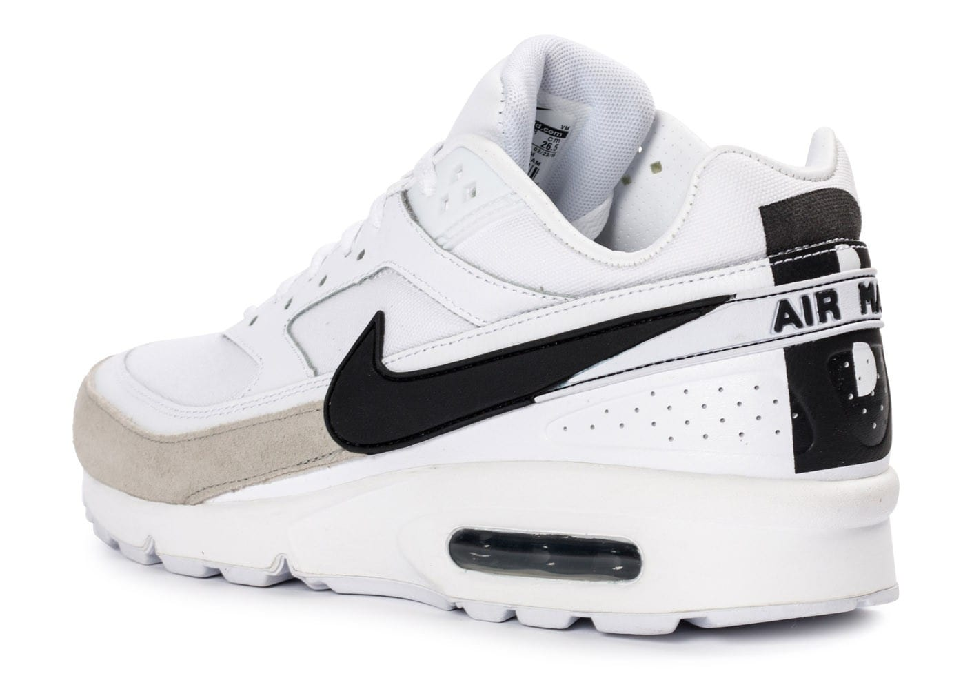 nike air max bw premium blanc noir chaussures homme chausport. Black Bedroom Furniture Sets. Home Design Ideas